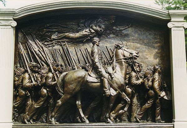 Boston, Massachusetts - Union - Col. Robert Shaw monument.