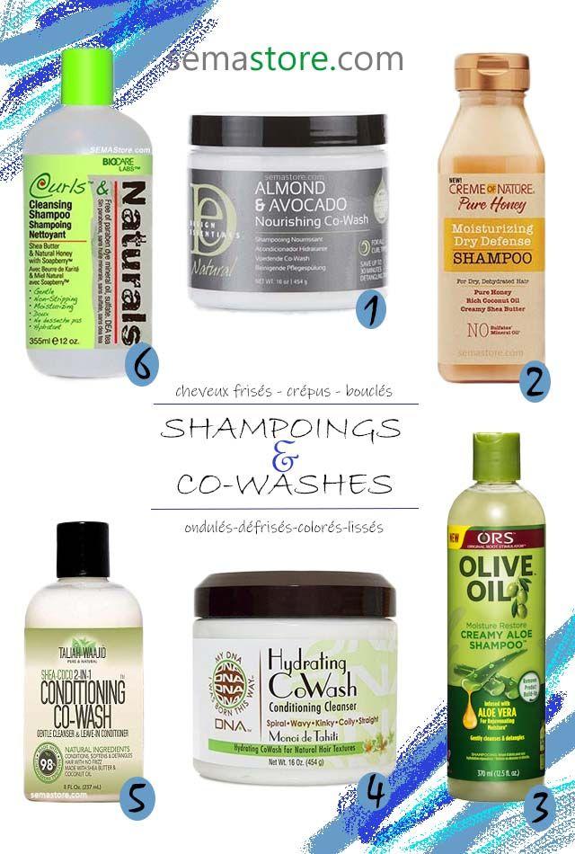 Shampooings et co-lavages avec des formules pour les cheveux frisés, frisés, …   – Cheveux crépus