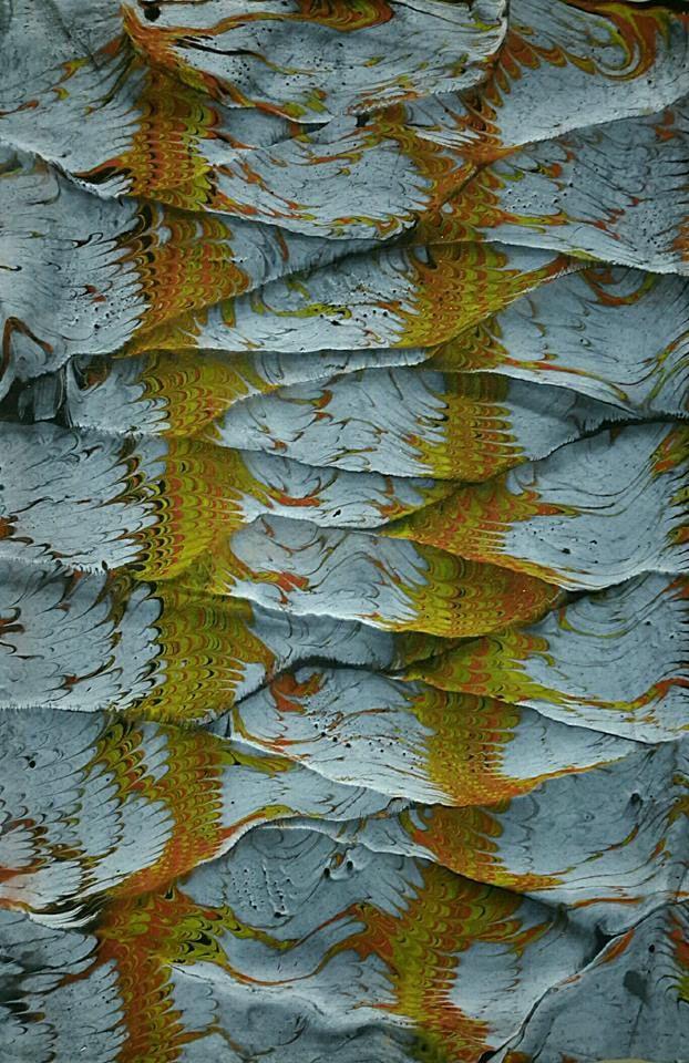 Marbled paper / ebru by Necmiye Albayrak.