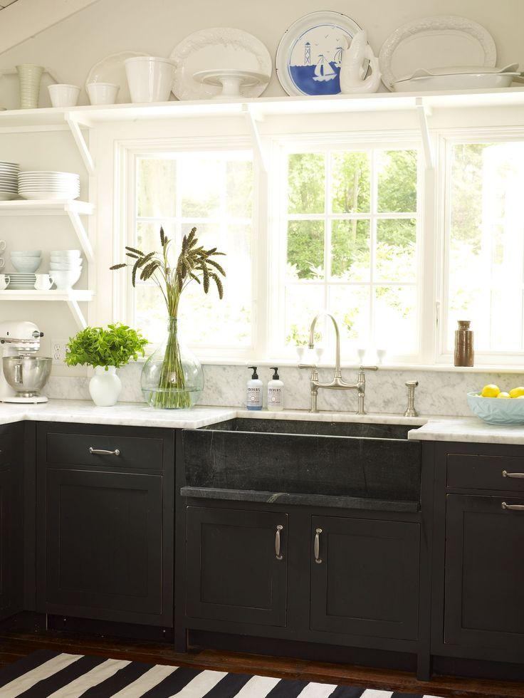 23 best dark bottom cabinets images on Pinterest | Kitchen ...