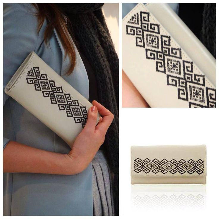#iutta #wallet #dorderomanesc #traditonal #leather #embroidery #motif  #iuttabags #white #longing #romania #folklore #folkart #art #fashion