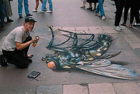 'The World's Biggest Fly' 3D Street Art                                                                                    |AmazingStreetArt|