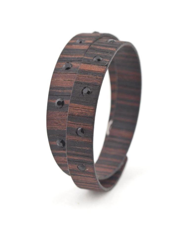 BAD CHIC EBANO MAKASSAR #bracelet #fashion #woodbracelet #wood #design #madeinitaly