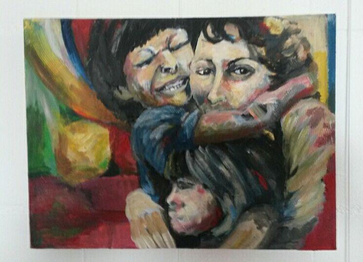 Hold on and let go, acryl on canvas, 30x40 cm