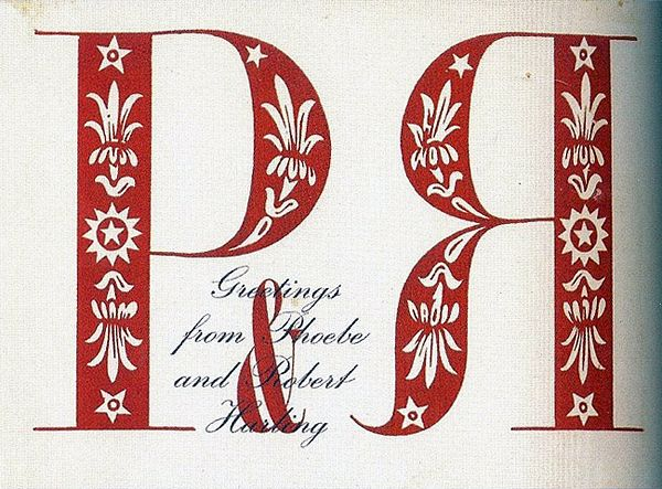 An undated Christmas greeting designed by Robert Harling (1910-2006), British designer, novelist, editor and typographer.