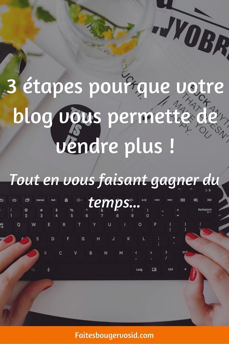 3 étapes pour que votre blog vous permette de vendre plus ! Tout en vous faisant gagner du temps   Offert : votre guide pour appliquer facilement cette stratégie