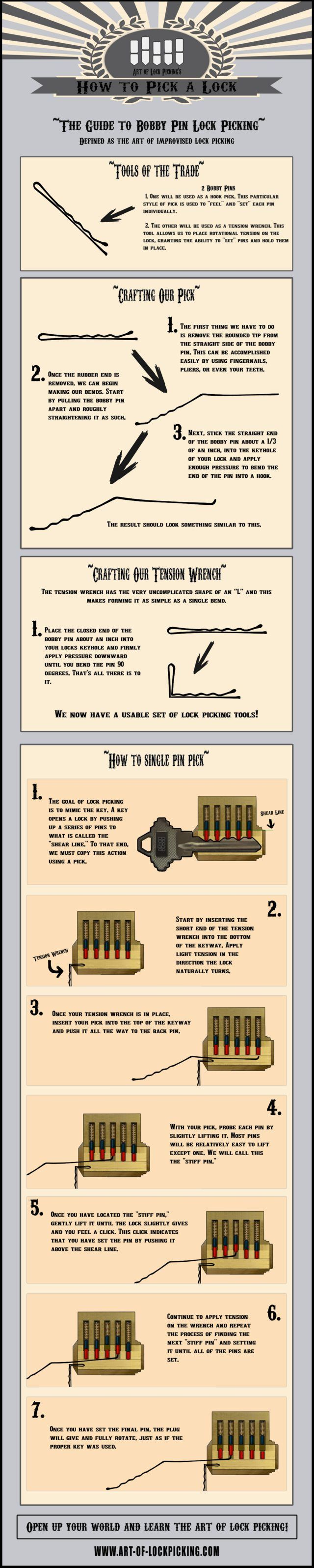 hight resolution of how to pick a lock with a bobby pin