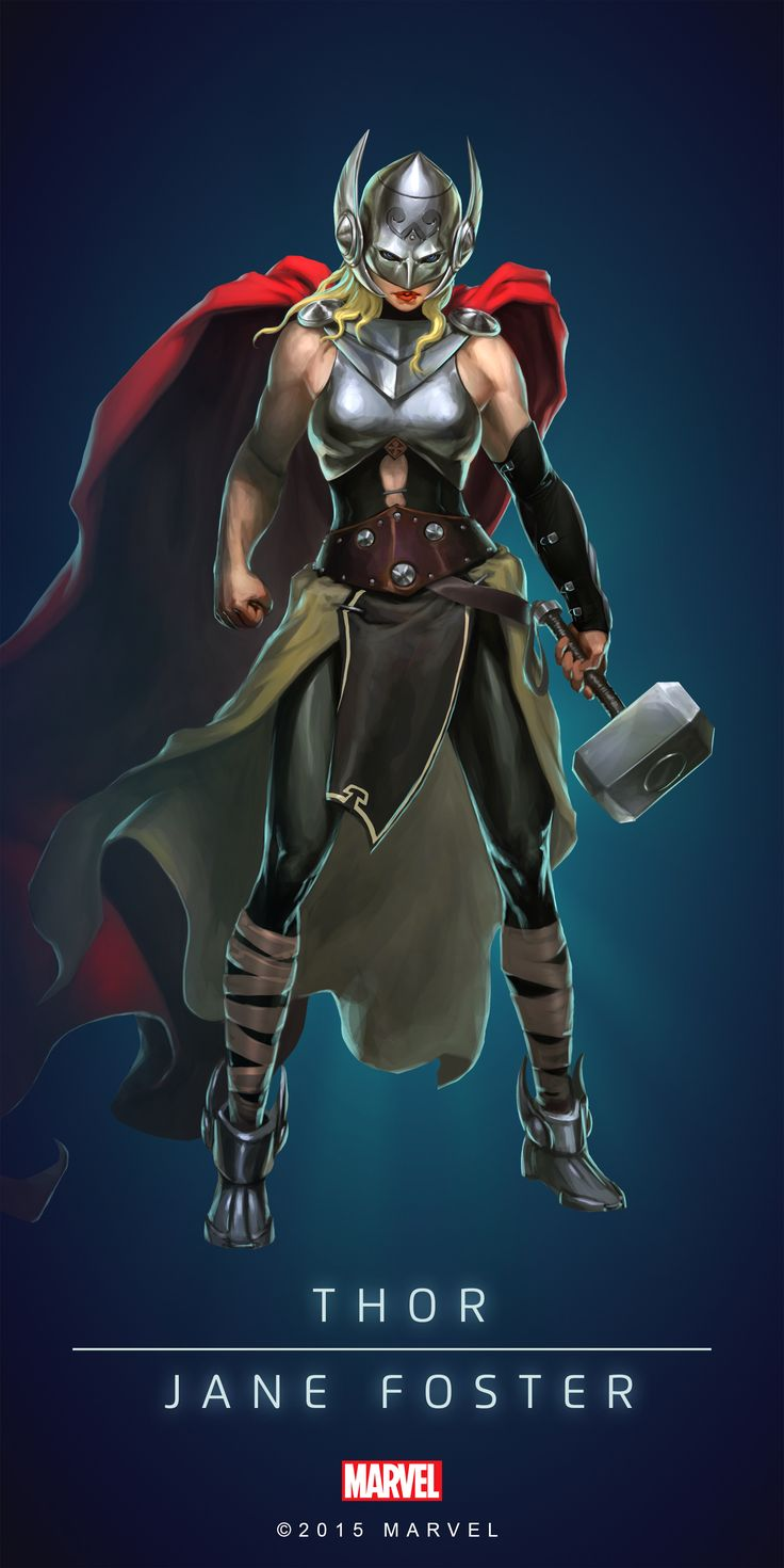 Thor_Goddess_Poster_02.png (PNG Image, 2000 × 3997 pixels)