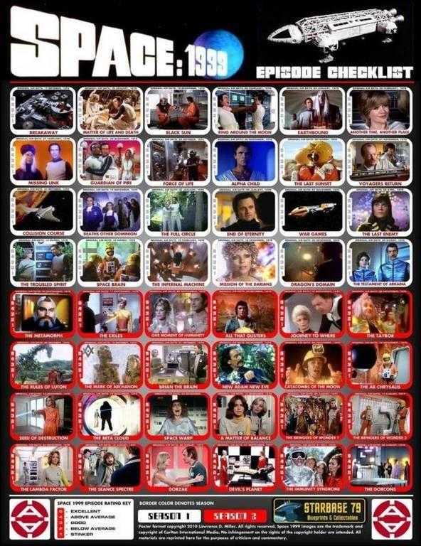 """Space 1999"" episode checklist, Season 1 & 2...(1975-1977)"