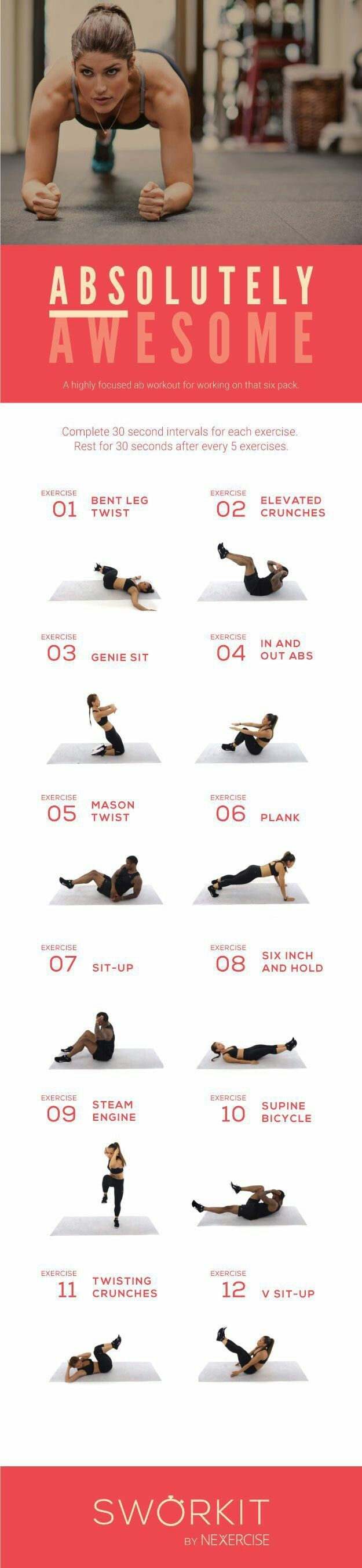 Absolutely awesome abs and strenght workout routine
