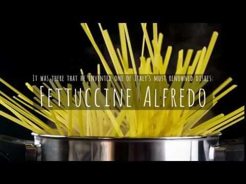 In 1914 Alfredo di Lelio opened his Alfredo restaurant in Rome where he invented Fettuccine Alfredo. Alfredo The King of Noodles. The fork & spoon are displayed today at Ristorante il Vero Alfredo in Piazza Augusto Imperatore Rome
