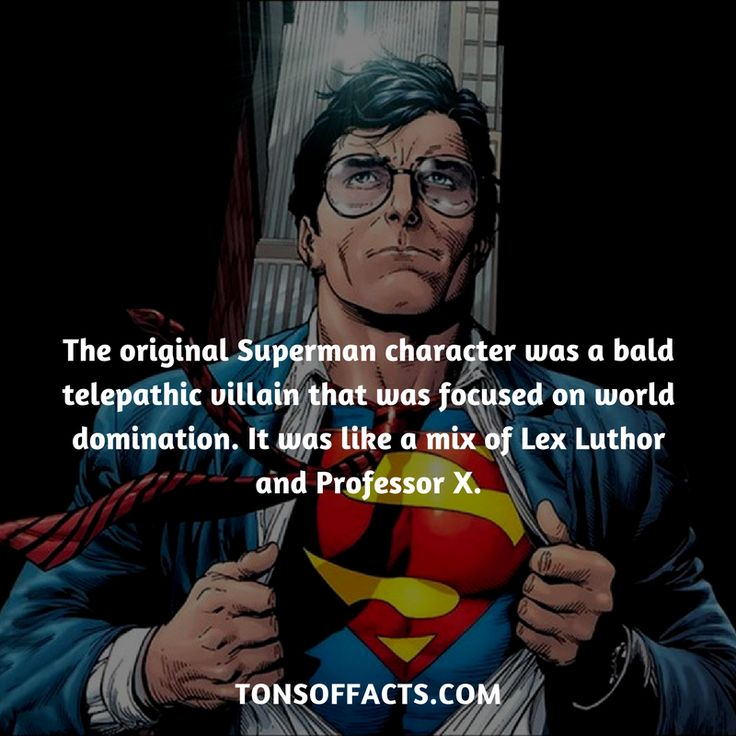 The original Superman character was a bald telepathic villain that was focused on world domination. It was like a mix of Lex Luthor and Professor X. #superman #dccomics #comics #memes #1 #superheroes #facts #interesting