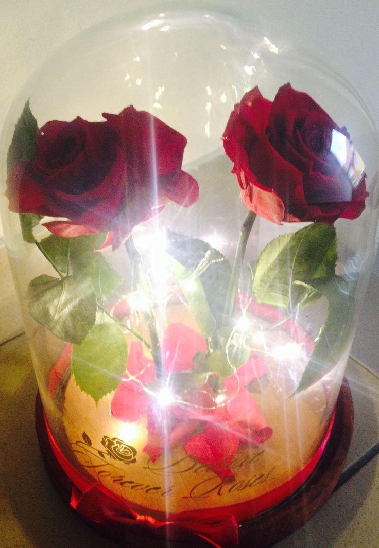 Deluxe Forever roses Örök rózsák párban világító üvegbúrában:Ár:27.900Ft