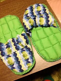 Microwaveable hot pack slippers to relax in