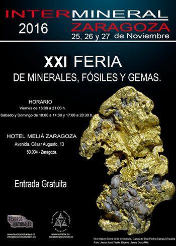 Cartel Feria Intermineral Zaragoza 2016
