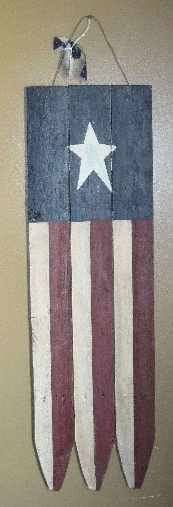Primitive Wooden American Flag on Etsy, $24.99