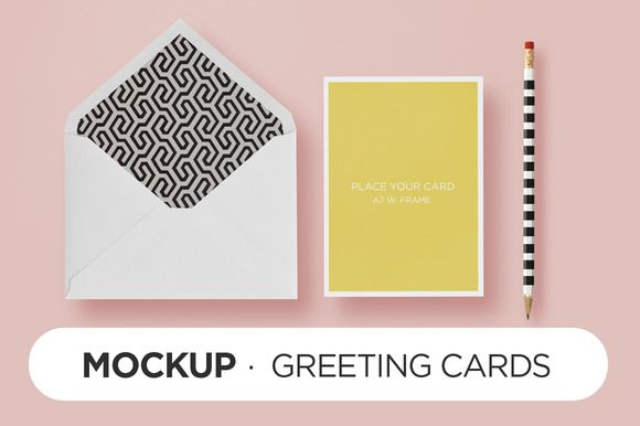 Mockup - HappyChic Card \ Envelope by TOMODACHI on Creative Market - sample a7 envelope template