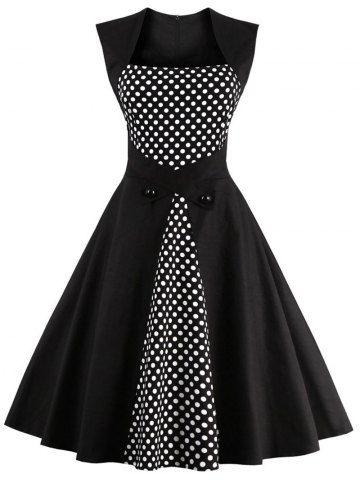 GET $50 NOW | Join RoseGal: Get YOUR $50 NOW!http://www.rosegal.com/vintage-dresses/retro-polka-dot-square-neck-807112.html?seid=1424208rg807112