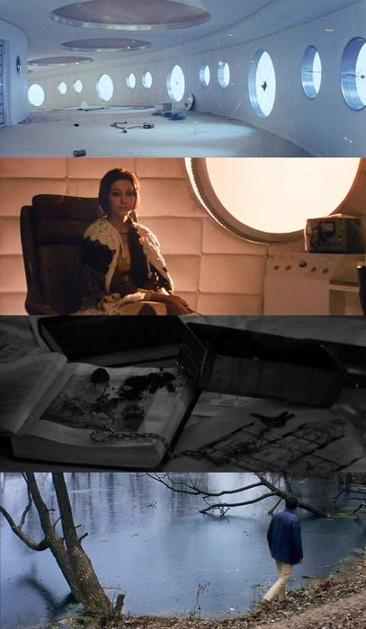 Solaris - 1972 - Tarkovsky. circles, panning lines and long jib shots. everything i could dream, for in my natural light scenes.