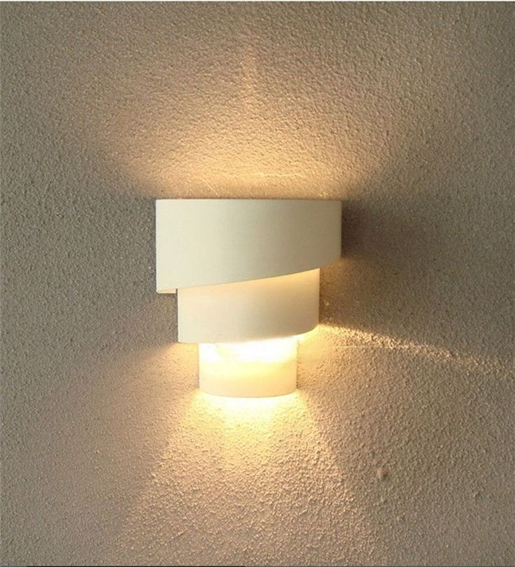 Modern 9W Corridor Curved Wall Lights Spiral Lamps Bulbs Sconce Lighting White In Home Furniture