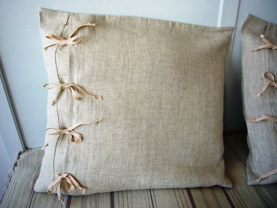 Striped Linen Throw Pillow : 24 best images about Luscious Linens on Pinterest Sarongs, Linen pillows and Striped linen