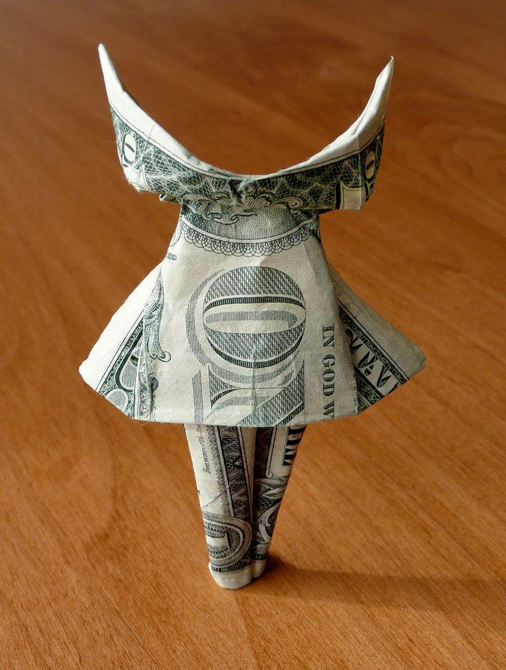 Origami Dress Money