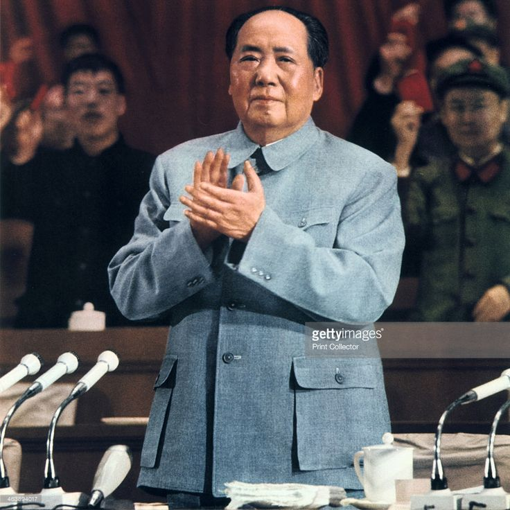 Mao Zedong, Chinese Communist leader, 1960. Mao Zedong (Mao Tse-Tung) (1893-1976) addressing a meeting of the Party faithful.