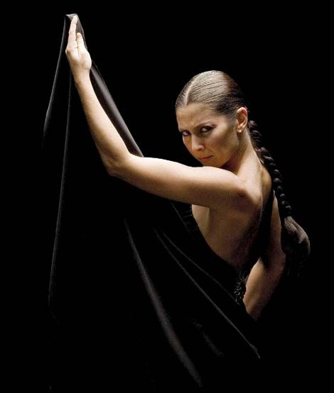 Sara Baras, Spanish flamenco dancer, choreographer and art director. From Cádiz