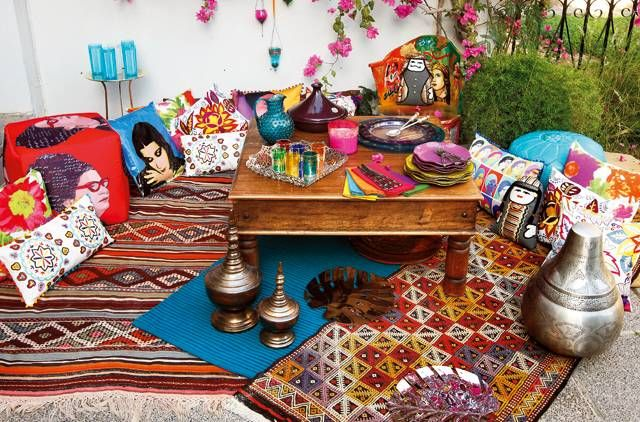 Give your garden a dash of Arabesque flair with vibrant, textured prints and accessories. For more stylish garden entertaining decor ideas, visit http://gulfnews.com/pictures/life-style/abstract-arabesque-items-for-the-garden-1.966010