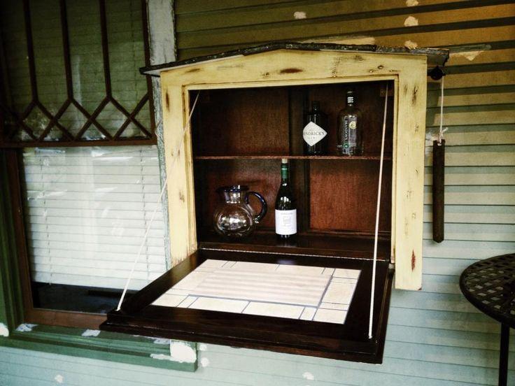 Indoor outdoor murphy bar upcycled from doors tile and for Indoor outdoor doors