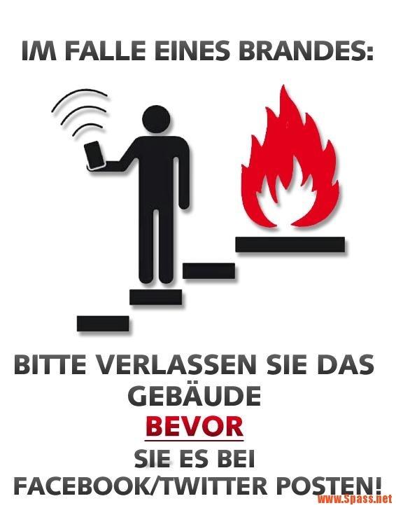 Im Falle eines Brandes… | lustiges auf Spass.net