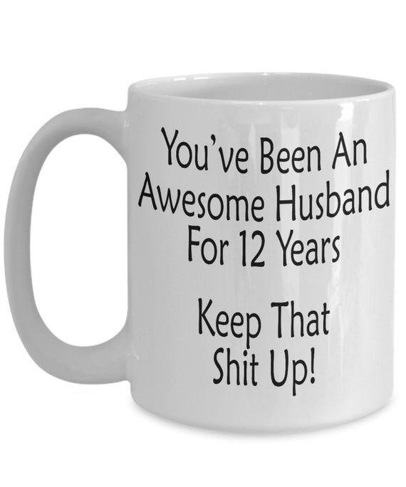 12th Anniversary Mug 12th Year Anniversary Gift For Men
