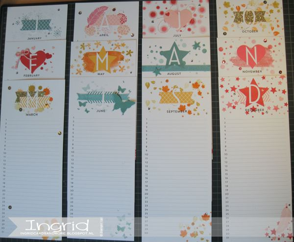 Perpetual Calendar Stamp : Best stampin up kalender images on pinterest