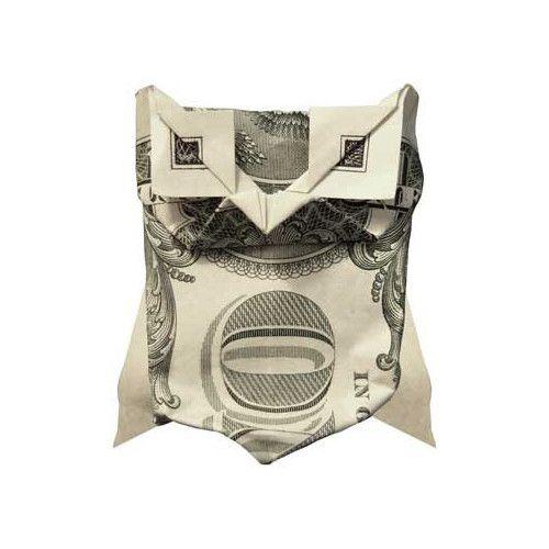 Origami formas increibles con un billete de un dólar8z