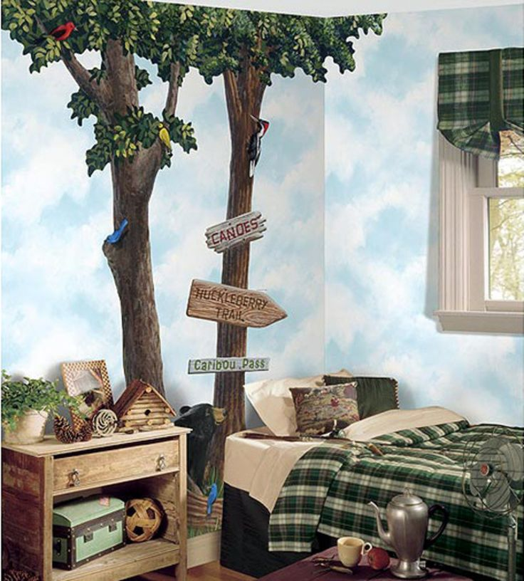 86 best murals images on pinterest for Tree wallpaper bedroom