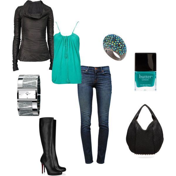 """Madison"" created by jennifer-garcia-llanes, polyvore fashion style Rick Owens J Brand Christian"