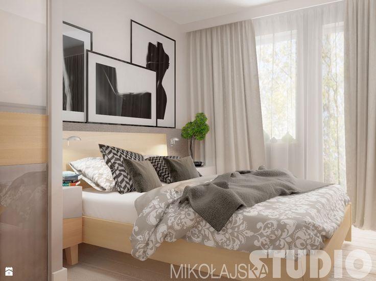 Kobieca sypialnia - zdjęcie od MIKOŁAJSKAstudio - Sypialnia - Styl Skandynawski - MIKOŁAJSKAstudio