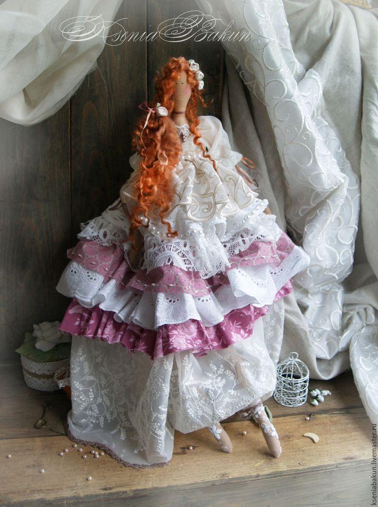 Купить Алексис. Коллекционная кукла Тильда - розовый, тильда, тильда ангел, тильды