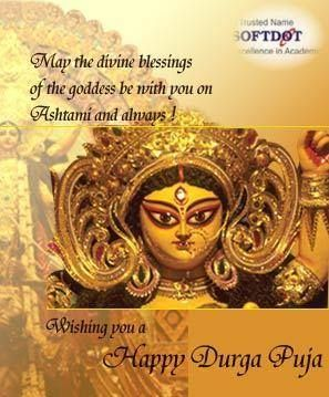 With happiness all the year through! Wishing you a happy durga puja #softdotinstitute #softdotreviews