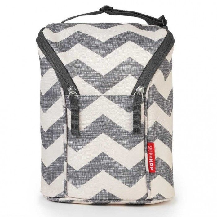BOLSA TERMICA PARA MAMADEIRA - DOUBLE BOTTLE BAG - CHEVRON - SKIP HOP
