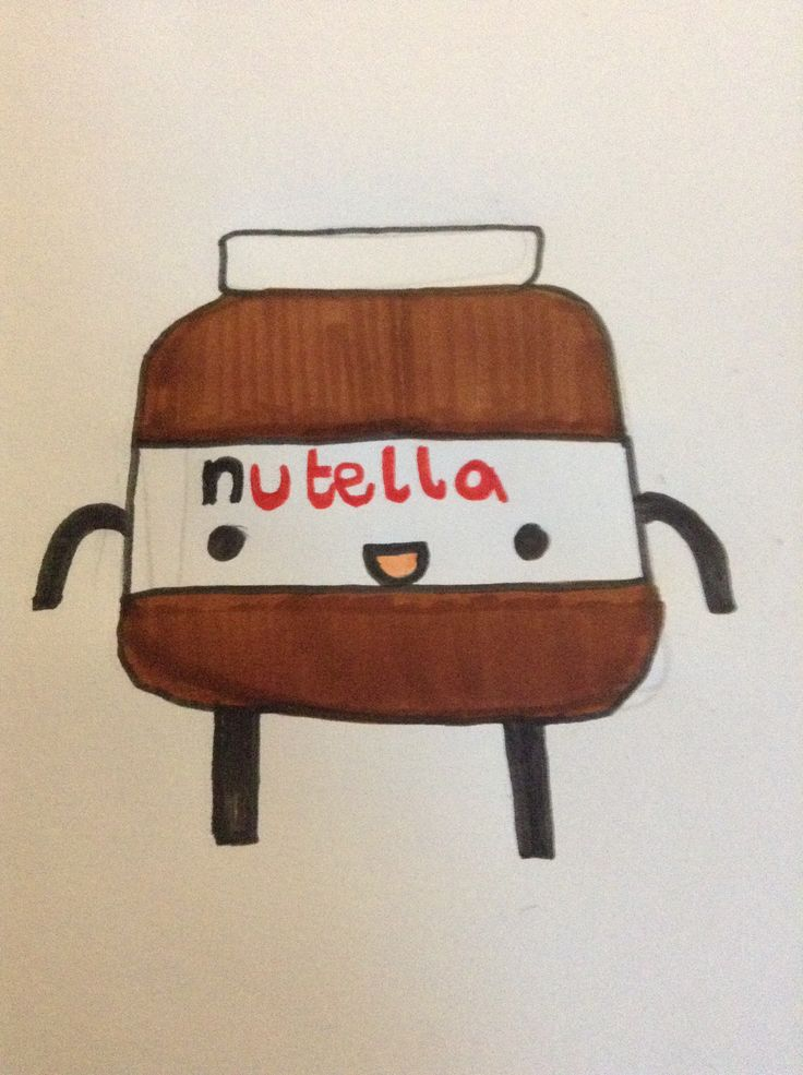 Kawaii Nutella, found on Pinterest, not designed me! All credit to who designed it