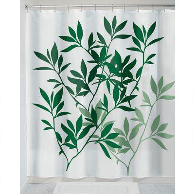 Rideau de douche motif feuilles Brico Privé Printed