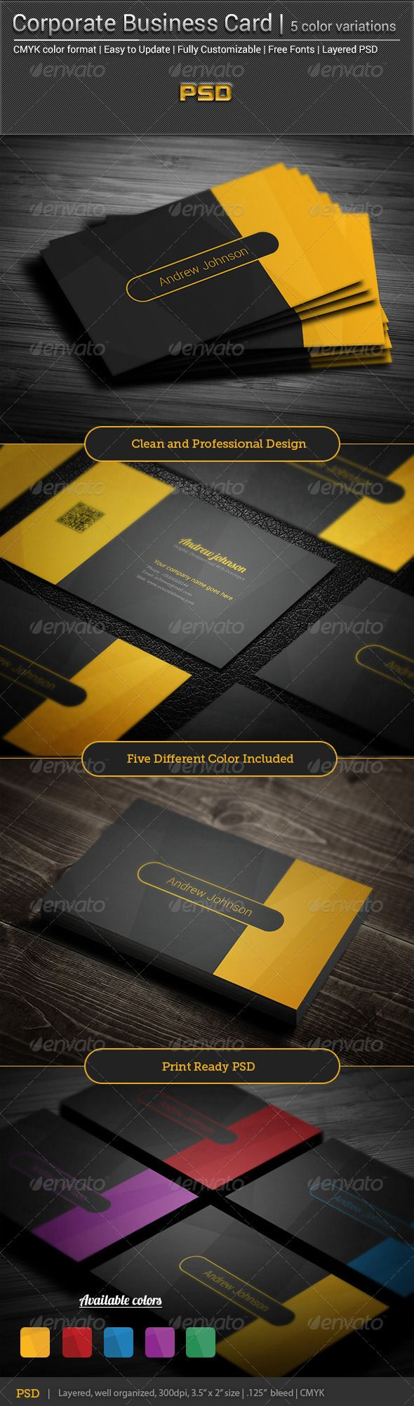Business card printing free templates from nextdayflyers - Corporate Business Card Elegant V 2