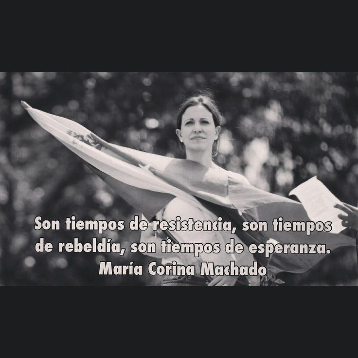 María Corina Machado, líder de la resistencia venezolana