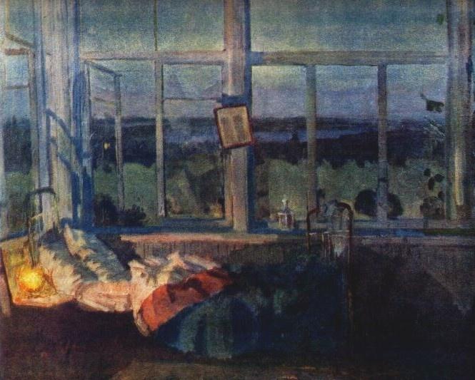 Н. Ромадин. Белая ночь. 1947