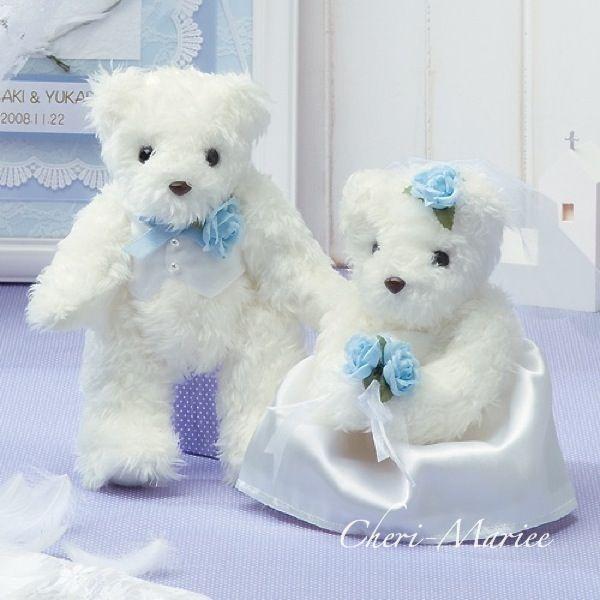 天使のウェディングシリーズ 天使のホワイトベア(ブルー) キット 【ウェルカムベア通販シェリーマリエ】