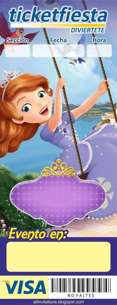 plantilla invitacin princesa sofia