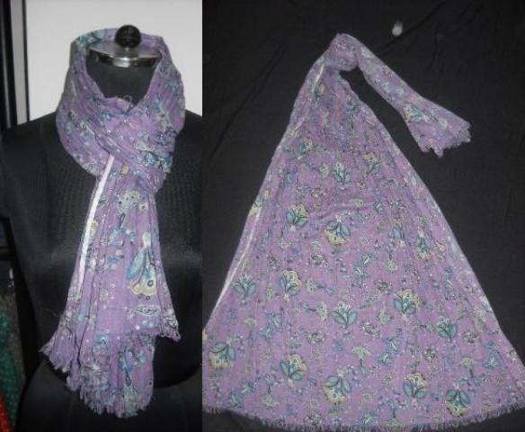 printed viscose scarf