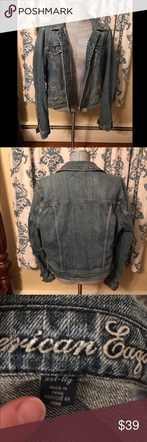 American Eagle Denim Jacket XXL American Eagle Denim Jacket. Lightly used. Z American Eagle Outfitters Jackets & Coats Jean Jackets