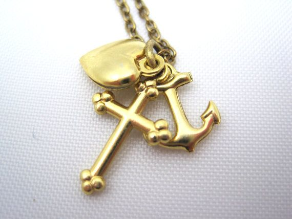 Vintage Charm - Anchor, Heart and Cross